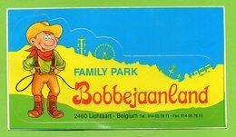 BOBBEJAANLAND FAMILY PARK 2460 LICHTAART * PARC ATTRACTION - COW BOY  * AUTOCOLLANT A229 * - Autocollants