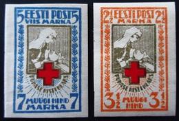 1921 Estonie Yt 47, 48 . Red Cross Charity Issue . Neufs Traces Charnières - Estonie