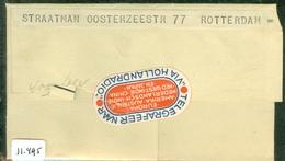 TELEGRAM RIJKSTELEGRAAF Uit 1940 Van VOORBURG Naar ROTTERDAM     (11.495) - Autres