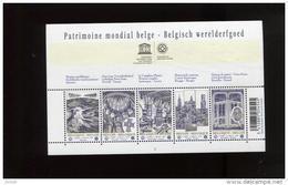 Belgie Blok Feuillet BL168 UNESCO PLAATNUMMER 4 World Heritage Brugge Brussel Horta Tournai Spiennes - Blocks & Sheetlets 1962-....