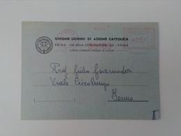 AZIONE CATTOLICA  Roma Unione Uomini 1954 EMA - Affrancature Meccaniche Rosse (EMA)