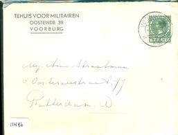 HANDGESCHREVEN BRIEF Uit 1939 Van TEHUIS VOOR MILITAIREN TE VOORBURG Naar ROTTERDAM     (11.496) - Brieven En Documenten