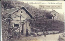 """Lozère : St André De Lancize, Reproduction Sur Papier-Photo, Café, Restaurant """"PASCAL"""" - France"""