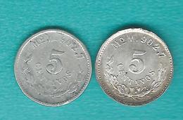 Mexico - 5 Centavos - 1903 & 1904 - Mo M - KM400.2 - Mexique
