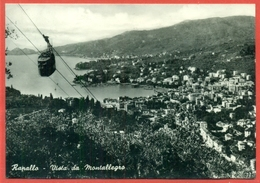 STORIA POSTALE- LIRE 55 MICHELANGIOLESCA - DA RAPALLO PER LA SVIZZERA- FUNIVIE-FUNICOLARI - 6. 1946-.. Republik