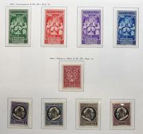 CITTA' DEL VATICANO 1939-1953 Collezione Montata Su Cartella E Fogli Marini Bella Qualità Fogli Marini In Aggiunta - Vaticano