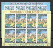 2000 MNH Belarus, Weissrusland, Mi 394-5 Sheet, Postfris** - Belarus