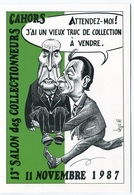 VEYRI - CAHORS Carte Pirate - 1987 - Michel ROCARD / François MITTERRAND - Voir Scan - Veyri, Bernard