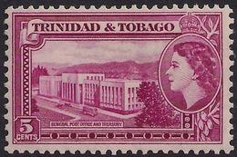 Trinidad & Tobago 1953 - 59 QE2 5 Cts Magenta MM SG 271 ( L1224 ) - Trindad & Tobago (...-1961)