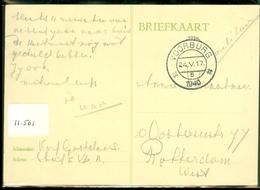 MILITAIR * VELDPOST HANDGESCHREVEN BRIEFKAART Uit 1940 Van VOORBURG  Naar ROTTERDAM   (11.501) - Periode 1891-1948 (Wilhelmina)