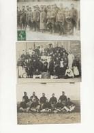 LOT DE 3 CARTES  PHOTOS MILITAIRE GUERRE 1914-18 - Guerra 1914-18