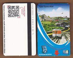 AC - SUBWAY SINGLE RIDE METROCARD ANKARA, TURKEY - Transportation Tickets