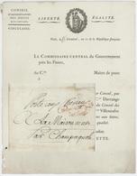 Paris An 11 – 15.3.1804 Conseil Administration Des Postes Aux Chevaux Héraldique Poste Aux Chevaux à La Maison Neuve - Marcofilia (sobres)