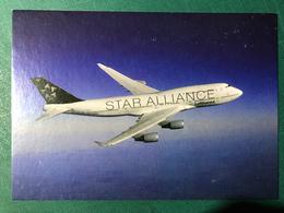 GERMANY LUFTHANSA PICTURE POST CARD - BOEING 747-400, STAR ALLIANCE - Deutschland