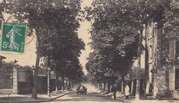 92. CLAMART. CPA. L'AVENUE DU BOIS DE BOULOGNE. ANNÉE 1910. ANIMATION VOITURE - Clamart