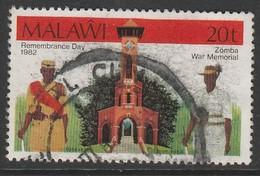 Malawi 1982 Remembrance Day 20 T Multicoloured SW 385 O Used - Malawi (1964-...)