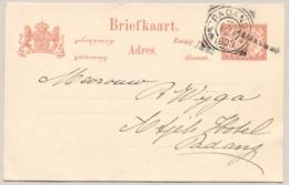 Nederlands Indië - 1903 - 5 Cent Briefkaart Van L PAJAKOMBO Naar Padang - Nederlands-Indië