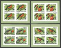 BURUNDI 2011 BIRDS WWF DELUXE SHEETS IMPERF MNH - Burundi
