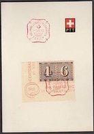Schweiz Suisse 1943: PTT-Folder Mit Zu WIII15 Mi 419 Yv 384A Mit Sonder-o ZÜRICH 1.III.43 (Zu CHF 10.00) - Blocks & Kleinbögen