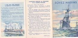 André Nivard Soyez Marins Engagement Marine Nationale Militaire Specialites Du Corps Des Equipages De La Flotte Marin - Boats