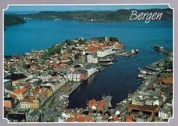 1 AK Norwegen * Blick Auf Die Stadt Bergen - Luftbildaufnahme * - Noruega