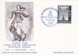 Hundert Jahre Dogma Von Der Unbefleckten Empfängnis Mariens. Immaculata. Marianisches Jahr - Christentum
