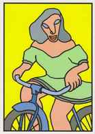 CPM ERGON - Woman Riding A Bike - Bicycle - Illustrators - Illustrator - Ergon