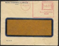 STORIA POSTALE REGNO - ANNULLO MECCANICO ROSSO - BANCA D'AMERICA E D'ITALIA 03.02.1942 SU BUSTA COMMERCIALE - Affrancature Meccaniche Rosse (EMA)