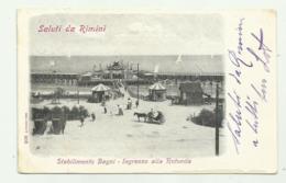 STABILIMENTO BAGNI - INGRESSO ALLA ROTONDA  VIAGGIATA FP - Rimini
