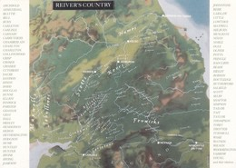 Postcard Map Of Revers Country England / Scottish Border Surnames Family Social History My Ref  B23286 - Maps