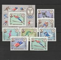 Aden - Kathiri State Of Seiyun 1967 Olympic Games Grenoble Set Of 7 + S/s Imperf. MNH -scarce- - Hiver 1968: Grenoble