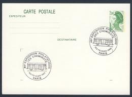 France Rep. Française 1989 Card / Karte / Carte Postale - 46e Exposition Philatélique Des Cheminots / Ausstellung - Treinen