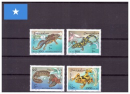 Somalie 1996 - MNH ** - Amphibiens - Michel Nr. 580-583 Série Complète (som020) - Somalie (1960-...)
