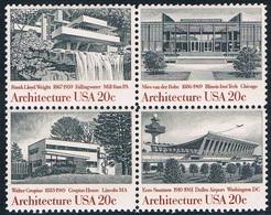 Etats-Unis - Architecture Du 19e Et 20e Siècles 1450/1453 (année 1982) ** - Neufs