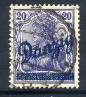 "DANZIG 1920 Overprint On 20 Pfg. With ""broken Z"" Flaw, Used.  Michel 23 IV - Danzig"