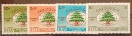 DE23- Lebanon 1967 Cplte Set 4v. MNH - Lebanese Union - Lebanon