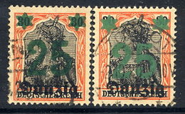 DANZIG 1920 Surcharge 25 On 30 Pfg. With Two Shades Of Overprint, Used.  Michel 18 - Danzig