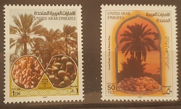 DE23- United Arab Emirates UAE 1987 Mi. 231-232 MNH Cplte Set 2v. - Arab Palm Tree & Dates - United Arab Emirates