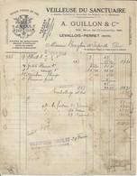LEVALLOIS PERRET A GUILLON VEILLEUSE DU SANCTUAIRE ENCENS BRAISE PYROLIQUE RATS DE CAVES MECHE TUBULAIRE ANNEE 1924 - France