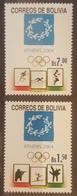 DE23 - Bolivia 2004 Complete Set 2v. MNH - Athens Olympic Games - Bolivia