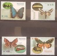 DE23 - Panama - Mail 2001 Yvert 1205/6+A.546/7 Mnh Fauna Butterflies - Panama