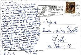 ITALIA - 1959 TRENTO Trentino Dolomiti Paradiso Degli Sciatori Su Cartolina Illustrata (di Trieste) - Sci
