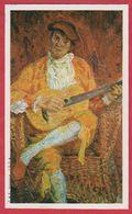 """""""Joueur De Guitare"""" Par Zbigniew Pronaszko, (1885-1958). Musée National De Varsovie. Pologne. Encyclopédie De 1970. - Oude Documenten"""