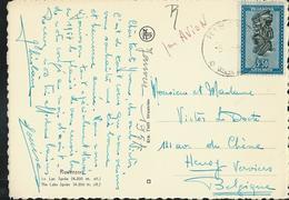 Carte-vue De Ruwenzor; Le Lac Speke) Avec N° 166 (masque)  Obl. Kis .. Vers Verviers 1957 - 1924-44: Lettres