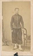 CDV Portrait Militaire En Pied - Second Empire - Photographe Anonyme (Ca 1865-70) - Guerre, Militaire