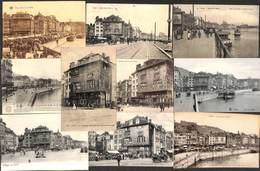 Liège - Variation 10 Cartes Quai De La Batte De La Goffe (animée, Attelages,...) - Liege