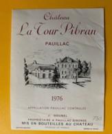 3993 - Château La Tour Pibram 1976 Pauillac - Bordeaux