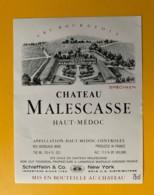 9406 -  Château Malescasse  Haut-Médoc  Spécimen - Bordeaux