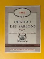 9407 -  Château Des Sablons 1962 Haut-Médoc - Bordeaux