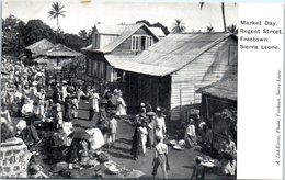 AFRIQUE --  SIERRA LEONE -- Market Bay - Regent Street - Sierra Leone